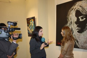 The Opening of the Group Art Exhibition of foreign artists