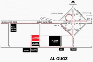 Map - JAMM Gallery Dubai