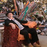 John Chamberlain in his studio, 2011. Photo: Robert McKeever. Courtesy Gagosian Gallery