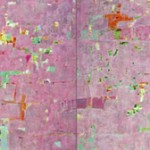 Reza Derakshani, Hunting the Pink!, 2012, Mixed media on canvas, 60 x 192 in / 152.4 x 487.7 cm