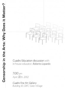 CUADRO Gallery: Censorship in the Arts: Why Does it Matter?