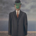 Rene Magritte, The Son Of Man,1964, oil on canvas,116 cm × 89 cm, Private Collection