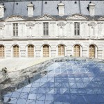The building devoted to Islamic art, photographed during construction, occupies the stately 19th century Visconti courtyard. It will open on Sept. 22. (Antoine Mongodin / Musee du Louvre)
