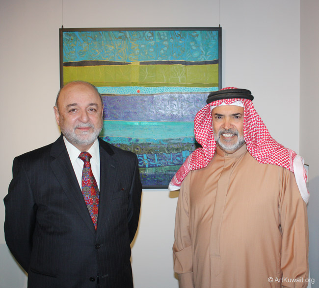 Ghassan Muhsen and His Excellency Shaikh Khalifa bin Hamad Al Khalifa