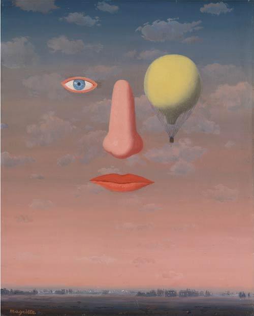 René Magritte(1898 - 1967), LES BELLES RELATIONS, oil on canvas 41 by 33cm,1967.