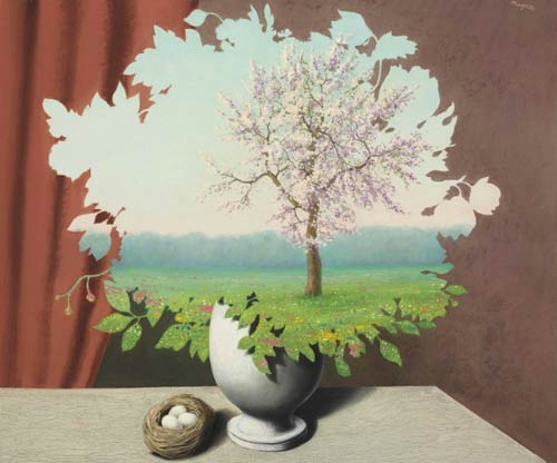 René Magritte (1893-1983)Le plagiat, oil on canvas, 54 x 65 cm, 1940