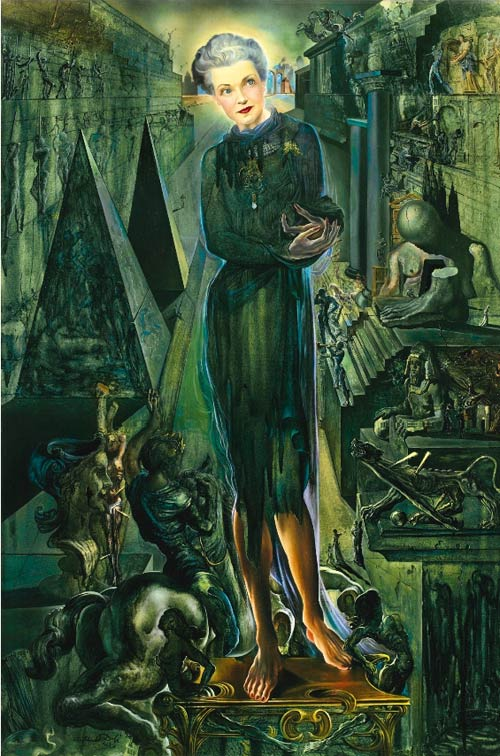 Salvador Dalí(1904 - 1989), PORTRAIT OF MRS HARRISON WILLIAMS,  oil on canvas 91.8 by 61.4cm, 1943.
