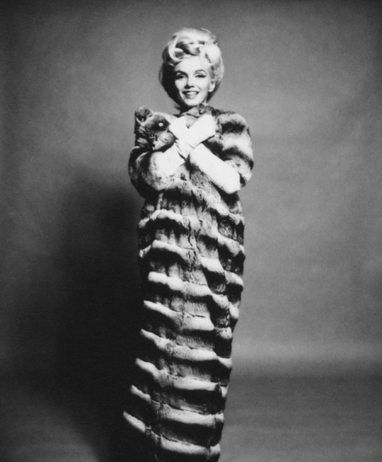 Bert Stern Marilyn in Chinchilla