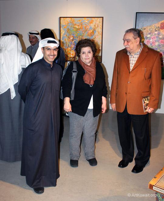 Khaled Al Asfour (AL M. Gallery), Farida Sultan (Sultan Gallery), Yahya Suwailem (Boushahri Gallery)