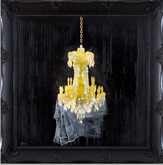 Shurooq Amin, One Hundred Years of Darkness, acrylic paint on wood framed, 150x150cm, 2013