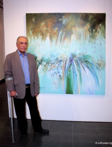 Kuwaiti artist Mahmoud Ashkanani at the Gallery Tilal