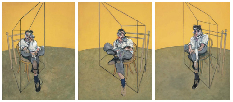 Francis Bacon (1909-1992) Three Studies of Lucian Freud oil on canvas,198 x 147.5 cm. Painted in 1969.  Price Realized $142,405,000 Christie's 12 November, 2013 New York
