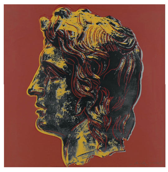 Andy Warhol, Alexander the Great, AP 3/5, screenprint in colours, 1982. Photo is a courtesy of Christie's