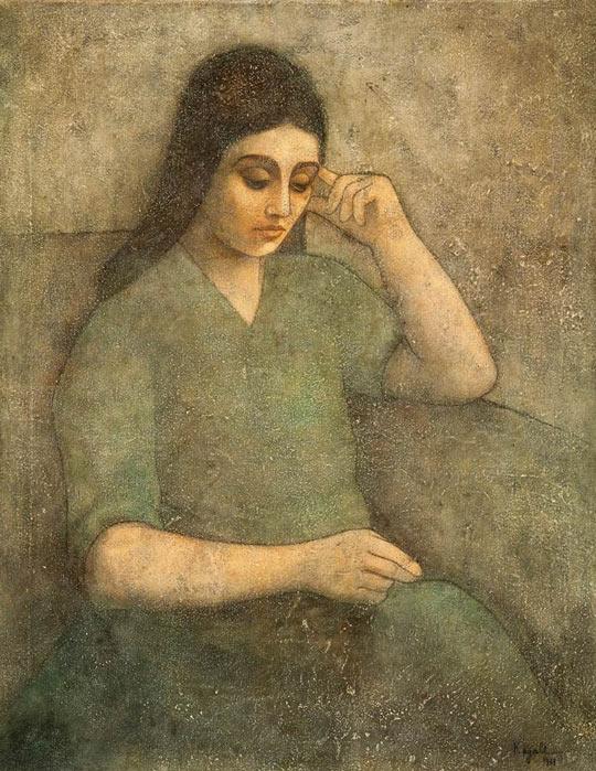 Louay-Kayali-1963-Untitled-Oil-on-canvas-97-x-75