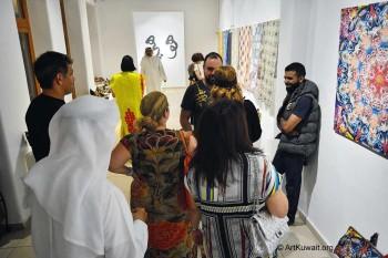 Dar Al Funoon Gallery: Opening of Roaming Patterns by Abdulla Al Awadi