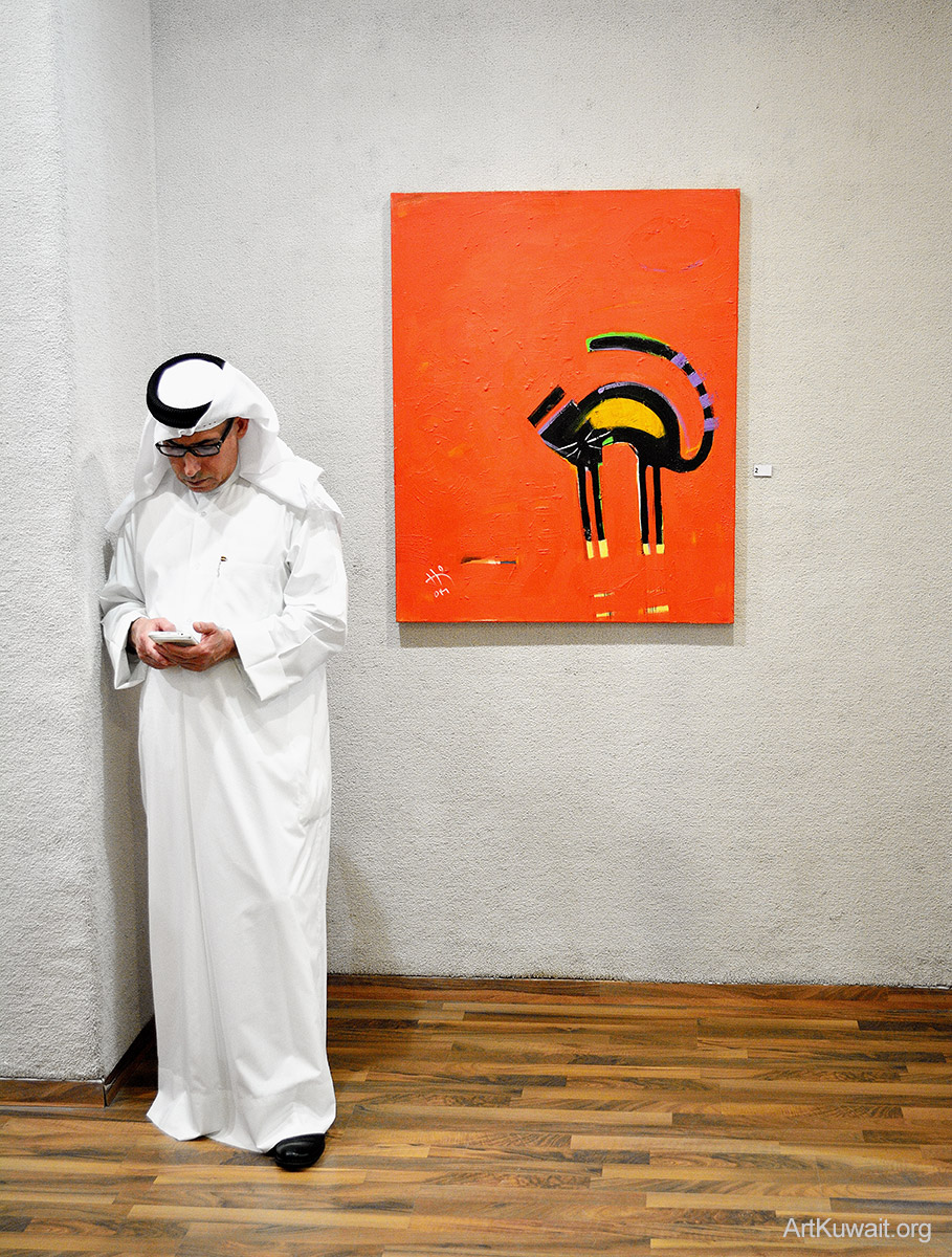 Kuwaiti artist Hameed Khazaal - Exhibition Boushahri Gallery (1)