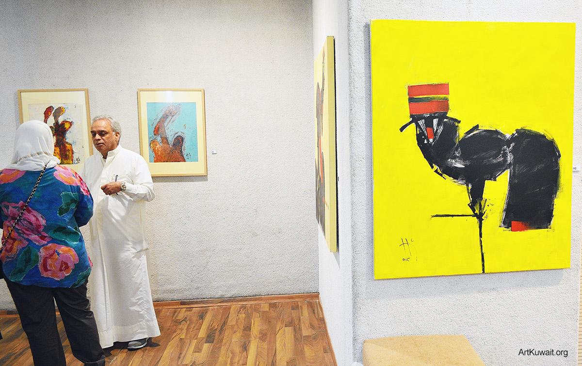 Kuwaiti artist Hameed Khazaal - Exhibition Boushahri Gallery (4)