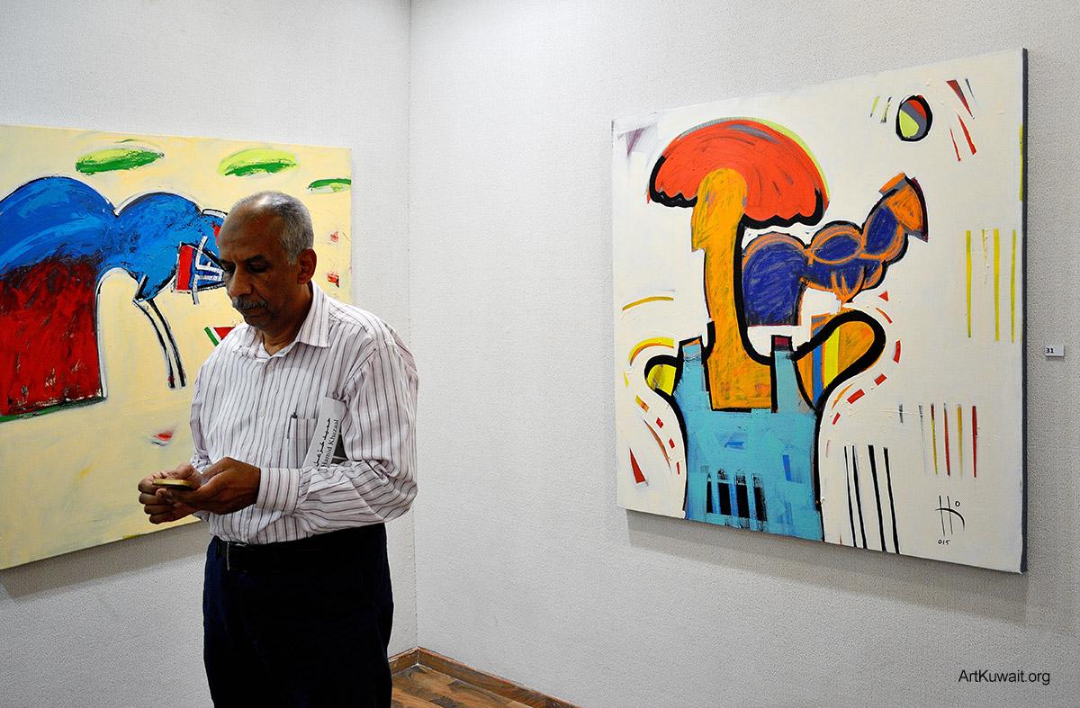 Kuwaiti artist Hameed Khazaal - Exhibition Boushahri Gallery (6)