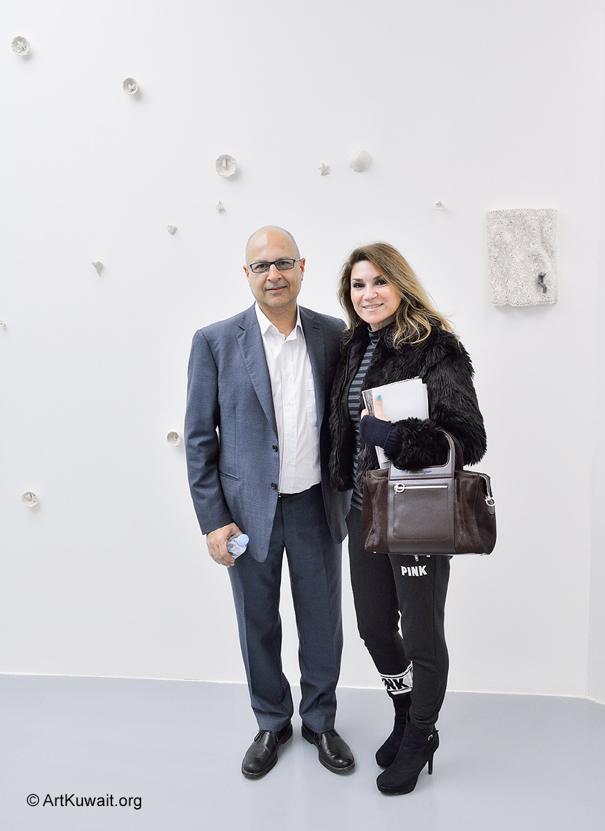 Amer-Huneidi-and-Shurooq-Amin-Exhibition-of-Italian-Artist-Pino-Deodato-in-Kuwait-