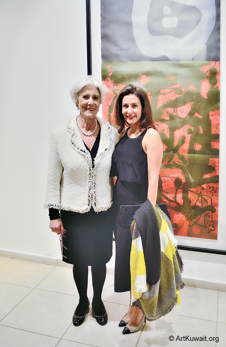 Sheikha Lulu M. Al Sabah and Lucia Topolian - Jamal Abdul Rahim Exhibition in Kuwait