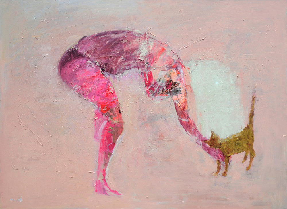 110-x-150-cm-2014-blonde-cat-Tarek-Butayhi