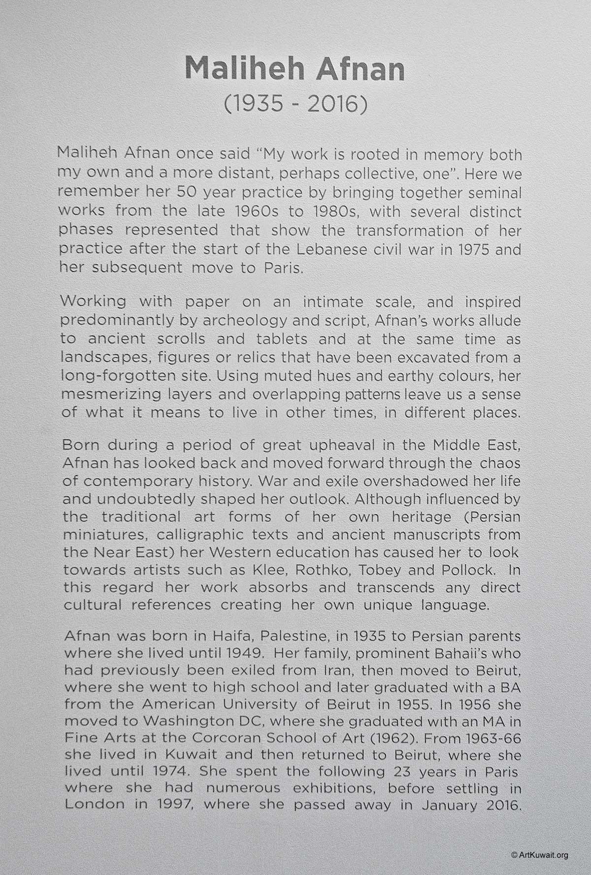 Art Dubai Modern 2016 - Maliheh Afnan