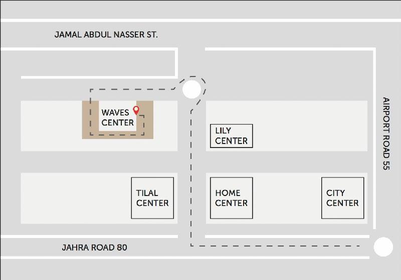 Waves-Center-Shuwaikh-Map