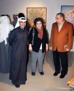 "Opening of ""You and Me"" by Syrian artist Nabil Al Samman at the AL M. Gallery"