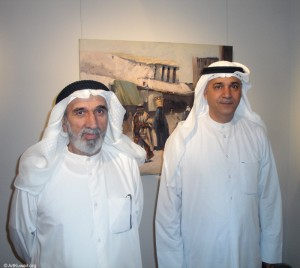 "AL Mashreq Gallery: Opening of Abdul Rida Baqer Exhibition ""Back in Time Old Kuwait"""